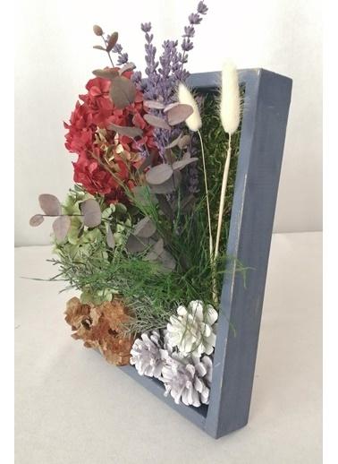 Kuru Çiçek Deposu Küçük Canlı Yosun Tablo Lavantalı (23 cm*30 cm) Renkli